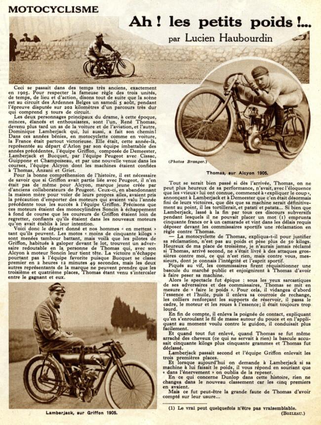 Une course au début du siècle (l'autre)
