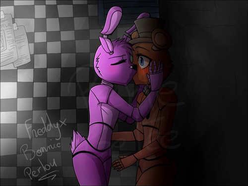 Fanart FNAF: Encore Freddy x Bonnie >w<