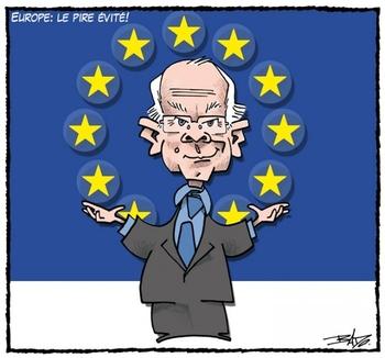 Europe - le pire est évité (dessin de Bado)