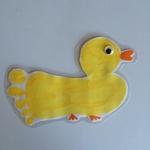 Poule et caneton - empreintes main/pied