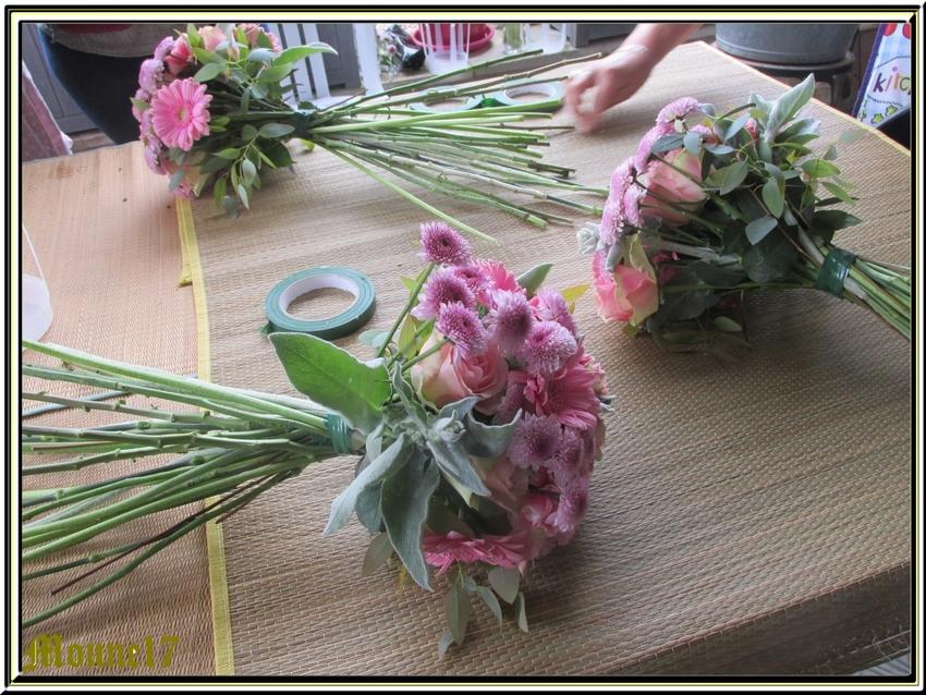 Atelier d'art floral de mai et juin 2015