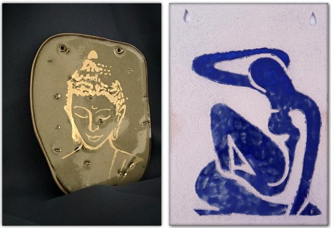 Tableaux en céramique_Cours de poterie Terr'Ame