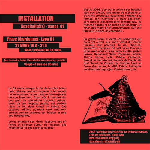 Installation le 31 mars prochain, place Chardonnet