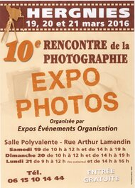 Expo photos, Hergnies les 19, 20, 21 mars