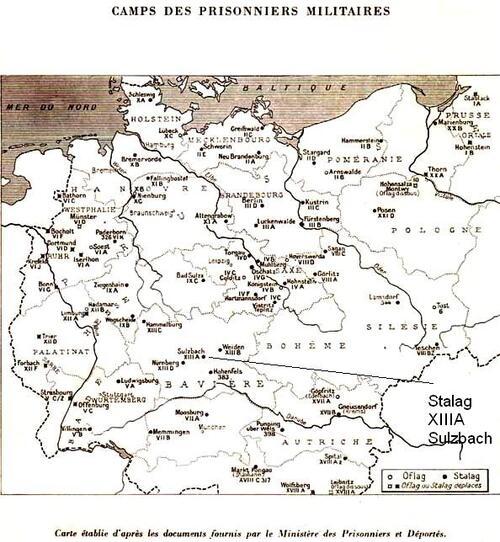 Carte des camps en Allemagne