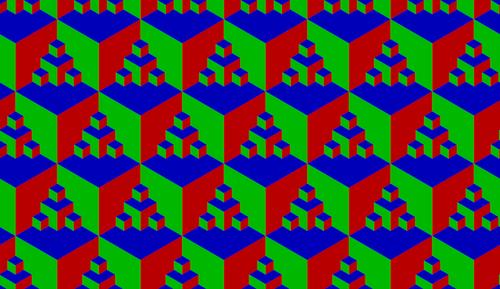 Une texture faite avec un cercle de 6 vertices