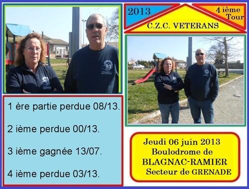 CHAMPIONNAT DE ZONE VETERANS 4 ième JOURNEE.