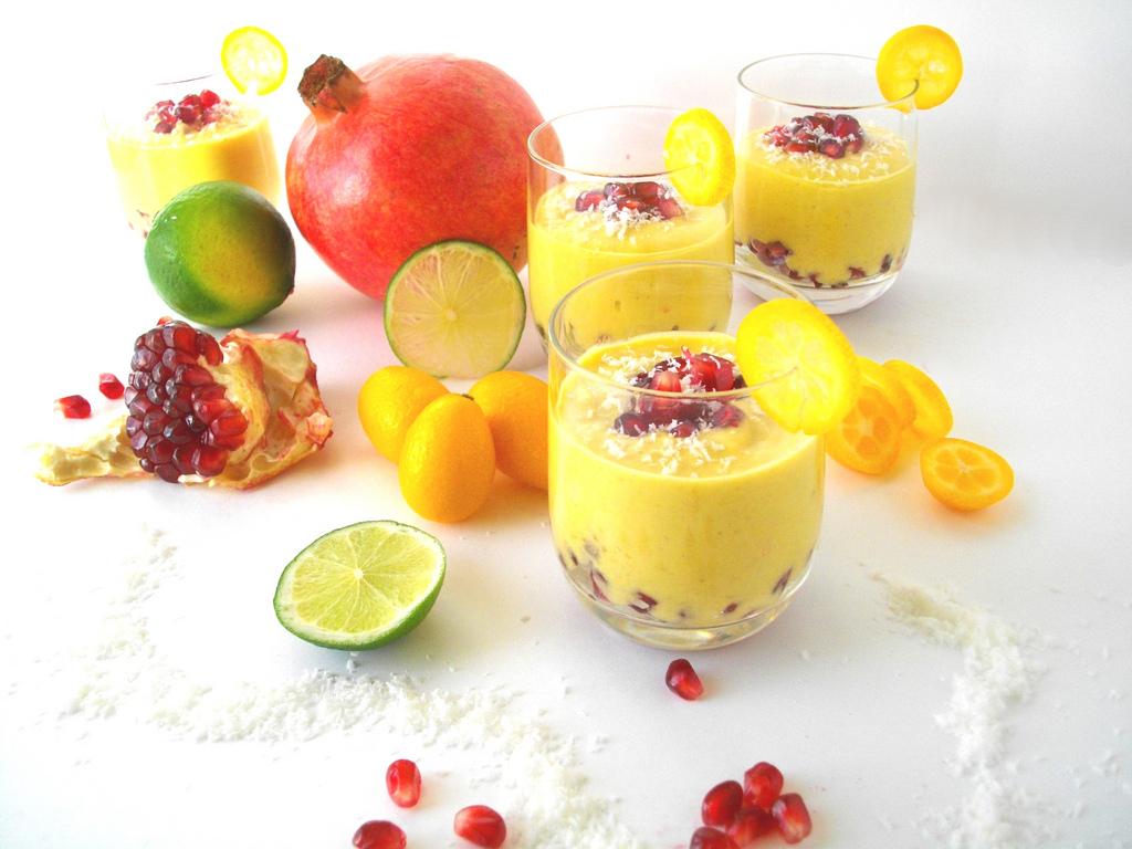 Crème de Mangue et Arilles de Grenade en Verrines... de l'exotisme, de la douceur et une bonne rasade de Soleil ;)