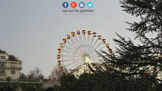 la grande roue Noël à Pau 2015
