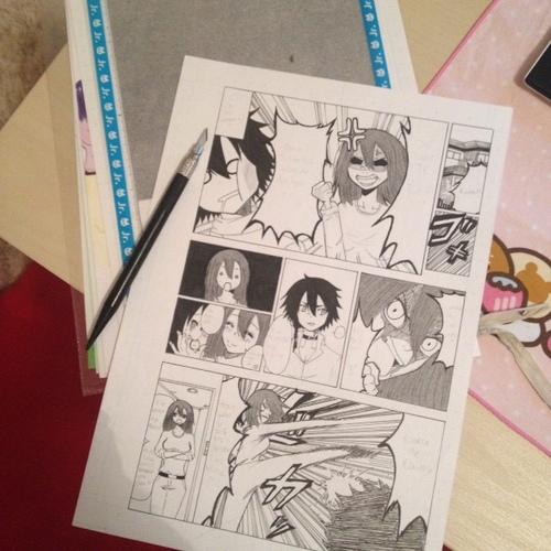 Les deux premières planches de mon manga