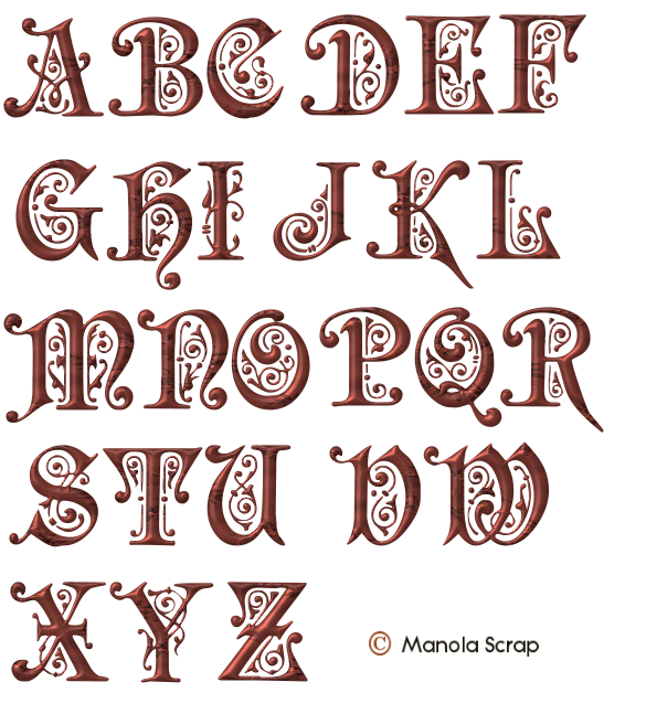 Alphabets Page 6