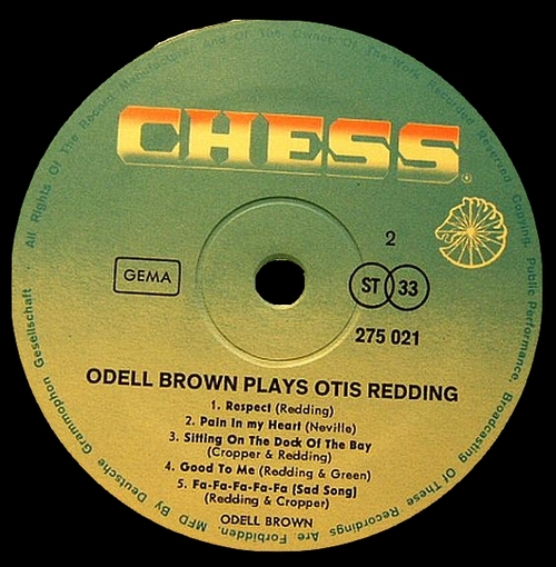 "Odell Brown & The Organ-Izers : Album "" Odell Brown Plays Otis Redding "" Cadet Records LPS-823 [ US ]"
