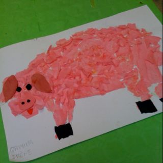 Idées de réalisations artistiques autour des 3 petits cochons