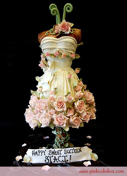 Dress cake