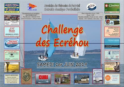 SAMEDI 1 JUIN 2019 : CHALENGE DES ECREHOU