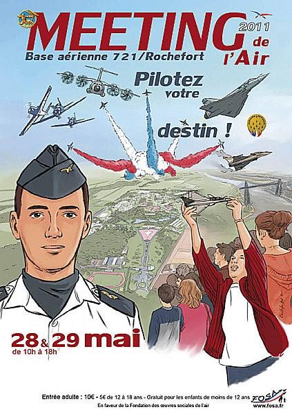 affiche du meeting aérien de rochefort