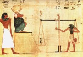 """Résultat de recherche d'images pour """"image de la pesée du coeur en egypte"""""""