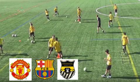 Idées d'échauffement en jeunes Barça, Manchester ( vidéo)
