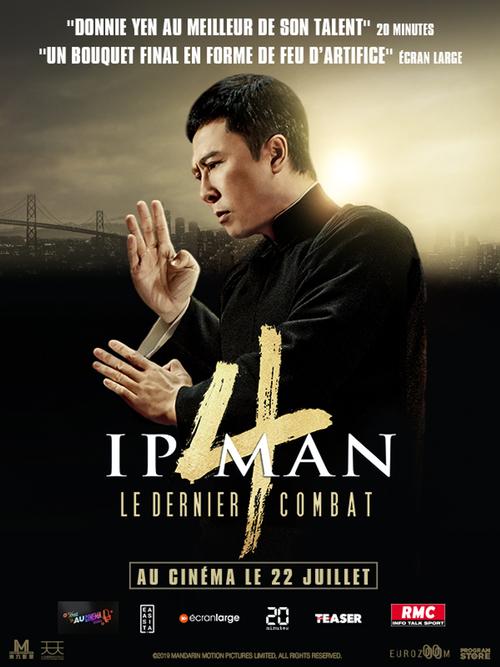 IP MAN 4 : LE DERNIER COMBAT avec Donnie Yen pour la première fois au cinéma en France le 22 juillet 2020