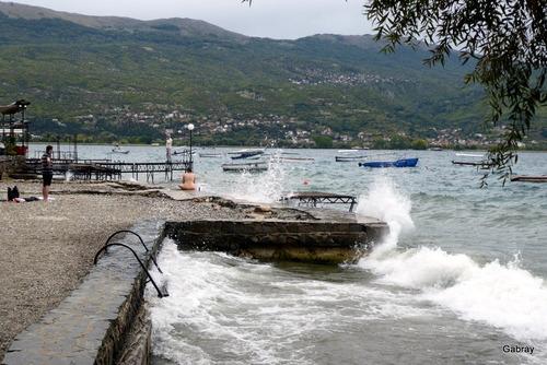Le lac Ohrid: comme à la mer?