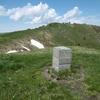 Passage près de la borne frontière 352