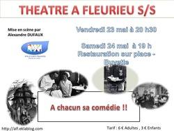 Soirée Théâtre les 23 & 24 mai à Fleurie