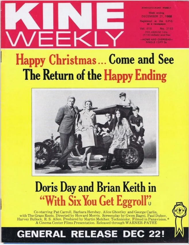 WITH SIX YOU GET EGGROLL box office usa 1968