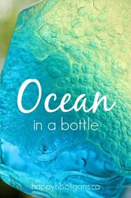Ocean in a Bottle with 3 Simple Ingredients - Happy Hooligans