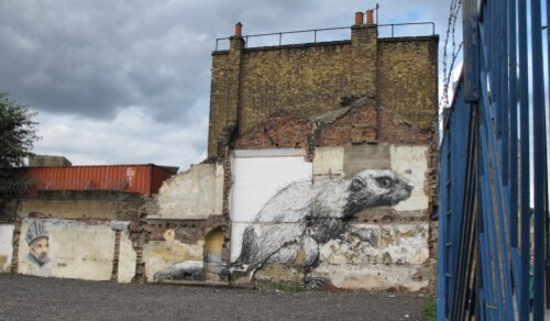 Londres street-art Hackney Roa rat 4