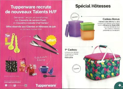 Atelier ou commande Tupperware