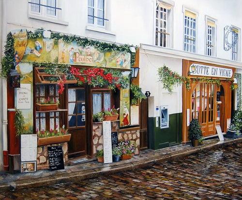 Peinture de : Marie-Claire Houmeau