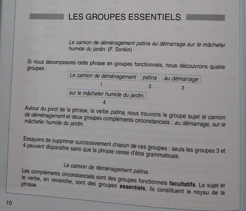 C / Analyse des groupes dans la phrase