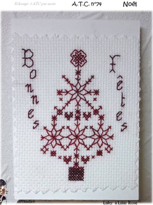 "ATC ""Noël"" et petits kdos"