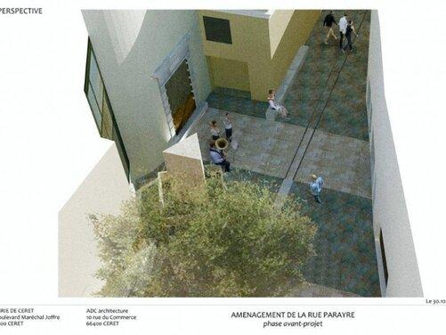 Le projet d'aménagement de la rue Joseph-Parayre et son état actuel.