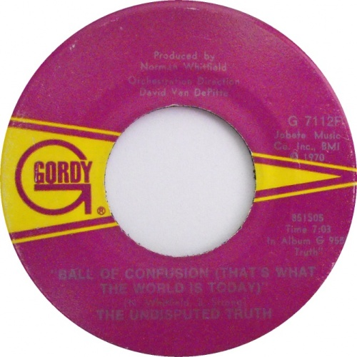 1971 : Single SP Gordy Records G 7112F / G 7112F DJ Promo [ US ]