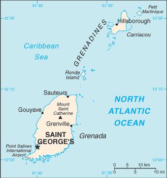 Grenada-CIA WFB Map
