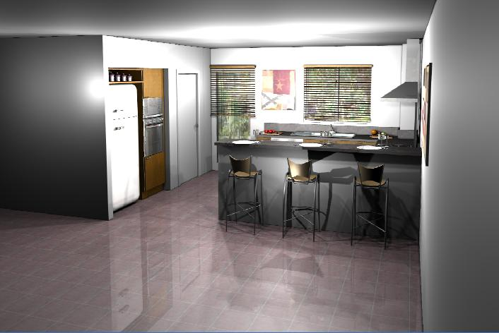 Conception cuisine 3d le chantier de bernard sandra for Conception cuisine 3d facile