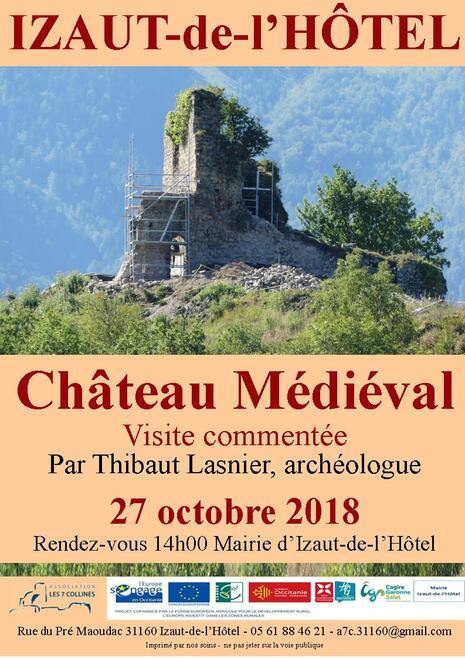 2018 : Visite commentée au château et conférence