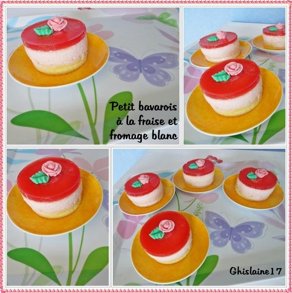 Petit bavarois à la fraise et fromage blanc