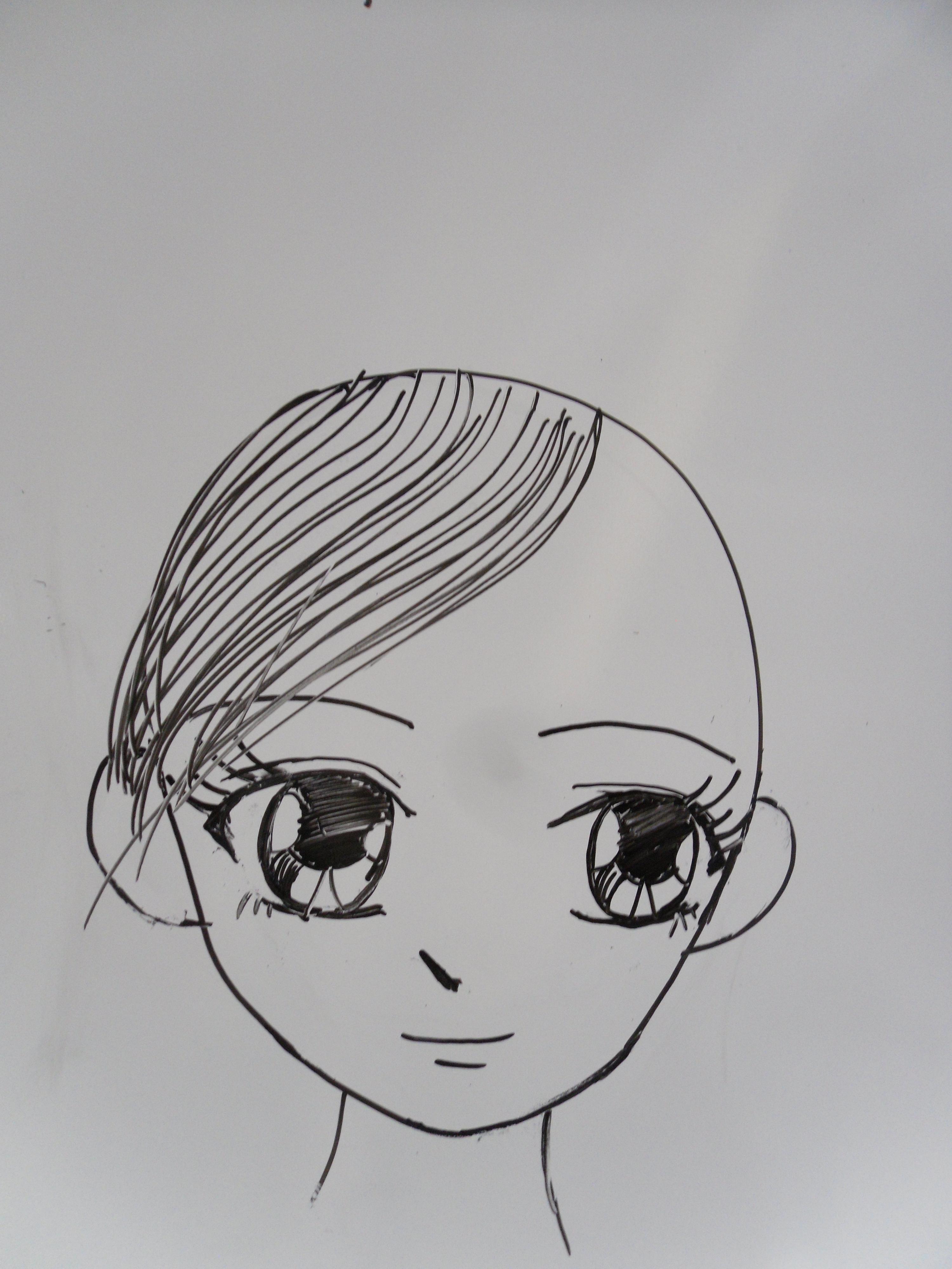 Dessin Manga Fille Facil