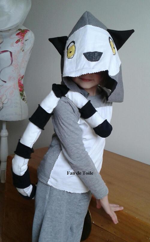 DIY déguisement Lémurien