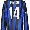 Patrick VIEIRA : Maillot porté INTER contre KIEV 04.11.2009
