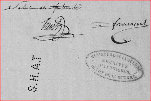 Lettres de Hentz et Francastel....