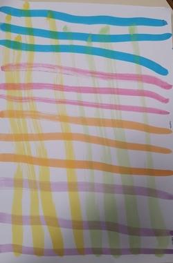 Graphisme quadrillage S.5: aux pinceaux et à l'encre