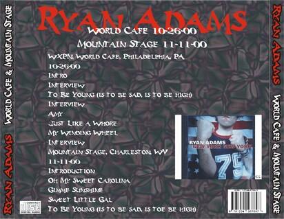 Le choix des lecteurs # 52: Ryan Adams (solo) - World Cafe et Mountain Stage 2000