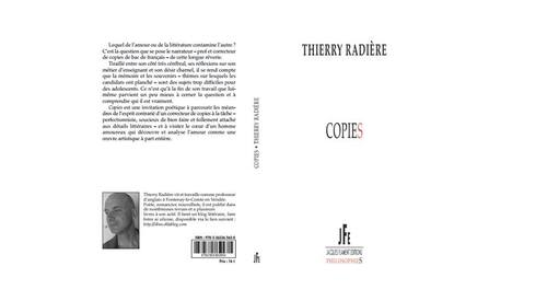 Copies, Editions Jacques Flament, Collection PhilosophieS