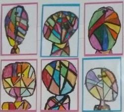 A la manière de Klee portrait coloré