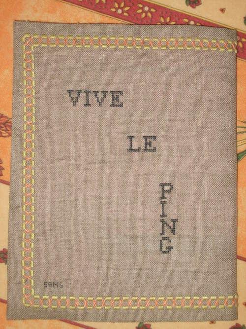mon cahier de pongiste