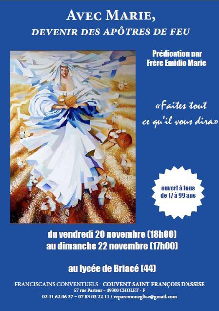 Retraite sur Marie du 20-22 nov 2015