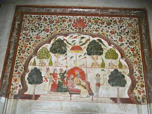 palais Rajah Mahal; décorations intérieures; suite et fin;